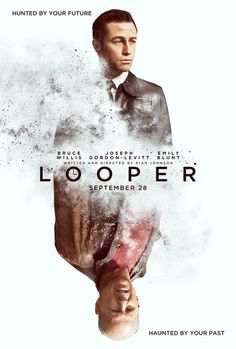 Looper Poster with Joseph Gordon-Levitt and Bruce Willis - A time traveling hitman is hunted by the future and haunted by the past in this look at Rian Johnson's sci-fi action thriller.