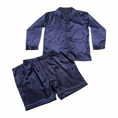 Intimo Classic Mens Satin Pajama