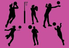 Image result for netball Woman Silhouette, Silhouette Vector, Vector Icons, Vector Art, Sport Icon, Netball, Action Poses, Backgrounds Free, Flat Illustration