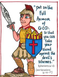 First put on the full armor of God before you take your stand against the devil.  **www.thegoodnewscartoon.com **Facebook: The Good News Cartoon**