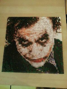 The Joker perler bead art by Nesrin Yilmaz