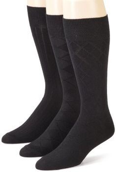 Dockers Mens 3 Pack Bamboo Rayon Texture Socks, Black, One Size Dockers. $10.50. Save 25%!