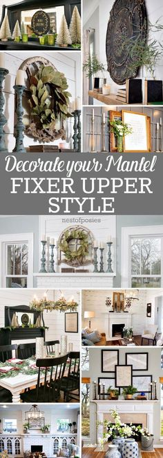 how to decorate a mantel fixer upper style everything christmas pinterest mantels the o. Black Bedroom Furniture Sets. Home Design Ideas