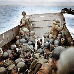 1st Infantry Division on D-Day off Omaha Beach