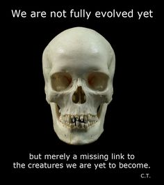 """We are not """"fully evolved"""""""