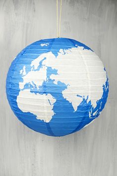 """16"""" Earth Globe Paper Lanterns $3/ea of 6/ $12 @ Save On Crafts"""