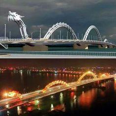 The Dragon Bridge in Vietnam