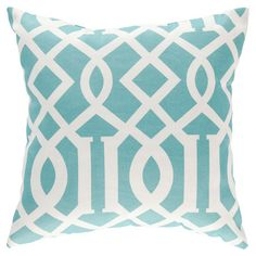 An intertwining trellis print adorns this American-made pillow, the perfect finishing touch to your chaise or favorite reading nook.