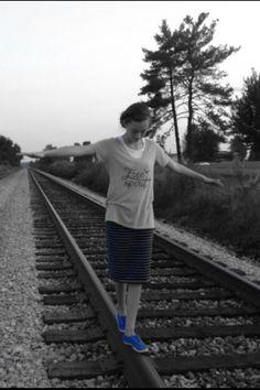 Blue shoes  Railroads