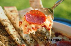 Pepperoni Pizza Dip from The Slow Roasted Italian