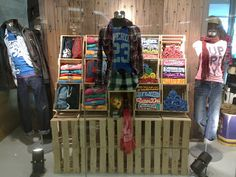 T-shirt Display in Crates