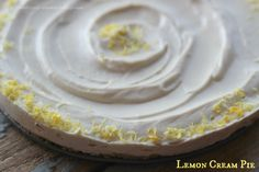 Lemon Cream Pie, Vegan Friendly