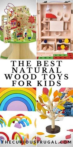 Are you looking for high quality non plastic toys for kids?  Wooden toys for kids can be sturdier, more eco-friendly, and non-toxic than plastic toys.  This list gives so many fun ideas of natural wood toys kids will love!  Gift ideas for Christmas, stocking stuffers, birthday gifts, baby shower gifts, and more.  | wooden toys for toddlers | wooden toys for babies | wooden toys for girls | wooden toys for boys | Montessori wooden toys | educational wooden toys | wooden blocks | best wooden toys Wooden Toys For Toddlers, Wooden Baby Toys, Wood Toys, Toddler Toys, Kids Toys, Toddler Stuff, Old Barbie Dolls, Baby Shower Gifts, Baby Gifts