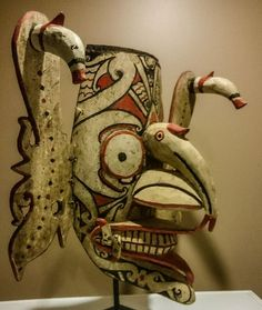 Dayak hudoq mask from Kalimantan / Borneo indonesia