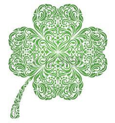 lucky celtic four leaf clover Celtic Shamrock, Four Leaf Clover Tattoo, Clover Tattoos, Shamrock Tattoos, Celtic Symbols, Celtic Art, Celtic Pride, Celtic Knots, Irish Pride