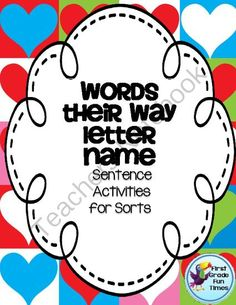 Words Their Way Word Study Letter Name Work on Words Activity from First Grade Fun Times on TeachersNotebook.com -  (41 pages)  - Word Study Resources Letter Name