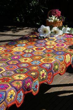 Crochet afghan crochet blanket crochet african by JilaCrochet