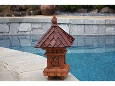 "Outdoor Lantern W/ Shingle Roof Top - 20"" Outdoor Light"