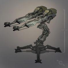 Colin Geller Resistance Game Sentry-Turret Concept Art.