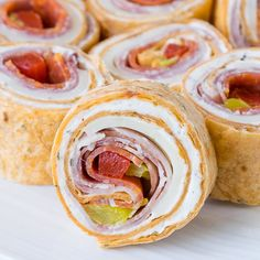 These super flavorful Italian Pinwheels are a fantastic appetizer or perfect for school lunches!
