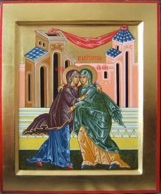 2008-2011 Icône de la Visitation (Fête) / Visitation Icon (Feast) (main de / hand of : Michèle Lévesque) | Flickr - Photo Sharing!