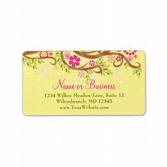 Whimsical Branch Custom Address Labels