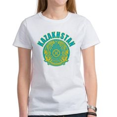 kazakhstan coat of arms T-Shirt on CafePress.com