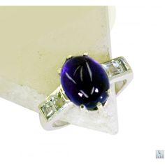 Riyo Concerned Amethyst 925 Solid Sterling Silver Purple Ring Srame7-2104