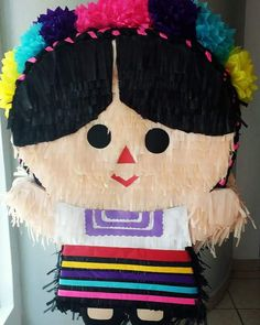 Mexican Pinata, Mexican Party, Fiesta Party Decorations, Fiesta Theme Party, 2nd Birthday Party Themes, 50th Party, Mexican Crafts, Mexican Stuff, Frida Kahlo Birthday