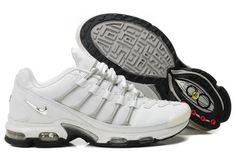 best service 7589e 9b71c White Nike Air Max Shoes Tn Viii Mens Grey Nike Air Max White, Nike Air