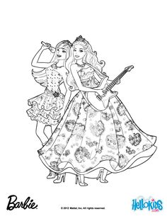 Princess Tori And Keira Popstar Barbie Coloring Page More The