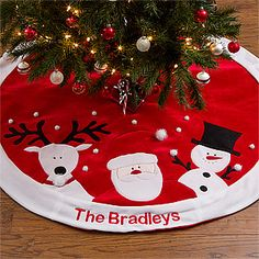 Make your home more festive this Christmas with the Santa's Helpers Embroidered Tree Skirt. Find the best personalized Christmas gifts at PersonalizationMall.com