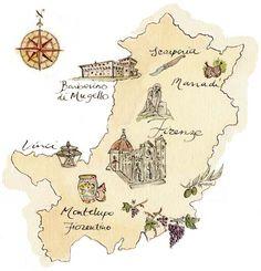 Firenze Tuscany Map