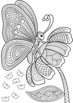 Adult Coloring (Doodles) on Behance Insect Coloring Pages, Blank Coloring Pages, Butterfly Coloring Page, Adult Coloring Book Pages, Coloring Book Art, Doodle Coloring, Mandala Coloring Pages, Animal Coloring Pages, Printable Coloring Pages