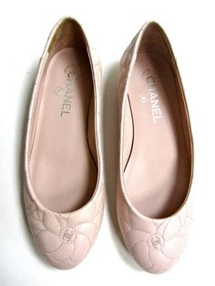 Pink+Chanel +ballerinas=lovely combination