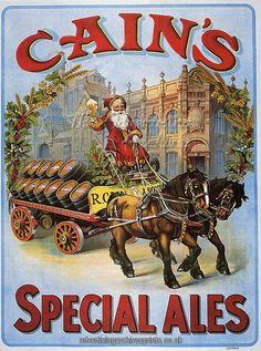 santa claus alcohol advert