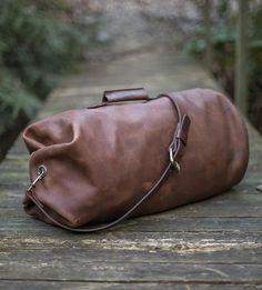 How can you resist a handmade leather duffel?