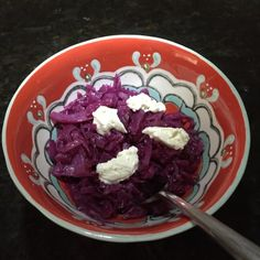 Houston's Restaurant makes a fabulous Braised Red Cabbage.  I found a copycat recipe for it on Nibbles of Tidbits, a Food Blog