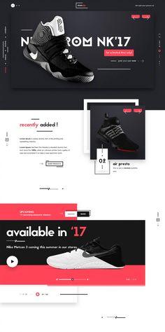 一组红黑搭配的网页设计 – 学UI网