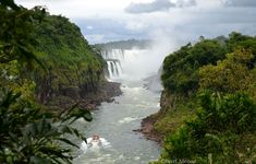 Overview of Iguazu Waterfalls