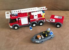 7239 Lego City Fire Truck complete police town station minifig fireman #LEGO