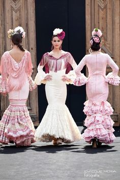 Victorian, Beauty, Dresses, Fashion, Flamenco Dresses, Ruffles, Polka Dot, Patrones, Beleza