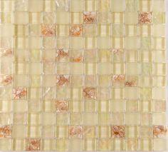 Glass Mosaic Tiles melted Shell Crystal Backsplash Tile Bathroom Wall Tiles Iridescent Tile YF-MTL04
