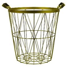 Noble Supply Co.™ Metal Wire Basket - Gold
