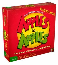 Amazon.com: Apples to Apples Party Box - The Game of Hilarious Comparisons (Family Edition): Toys & Games