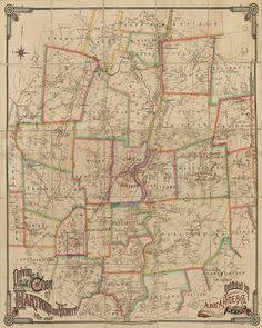 Middletown Connecticut Antique Birdseye Map; 1915