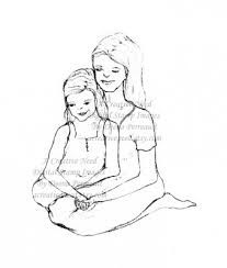 daughter mother drawing drawings sketch draw mothers daughters google journal drawn amazing etch stamps paintingvalley