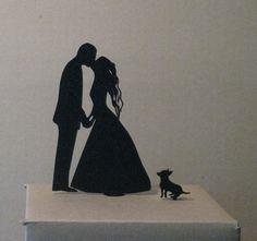 Cake Topper Wedding Cake Topper Chihuahua cake by Plasticsmith