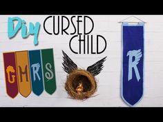 DIY: Harry Potter   Cursed Child - Bandeira das casas e pêndulo!