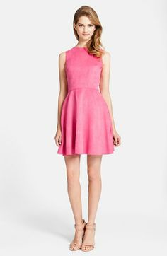 CeCe by Cynthia Steffe 'Tatiana' Faux Suede Fit & Flare Dress | Nordstrom